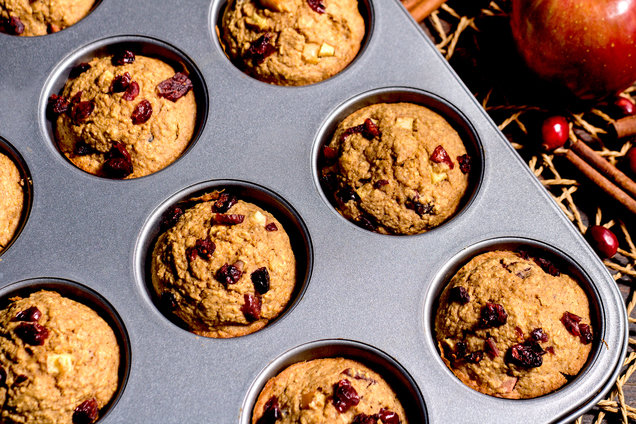 Hungry Girl's Healthy Cranberry Apple Blender Muffins Recipe