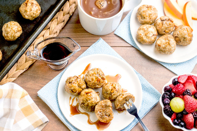 Hungry Girl's Healthy Turkey Sausage & Apple Breakfast Meatballs Recipe