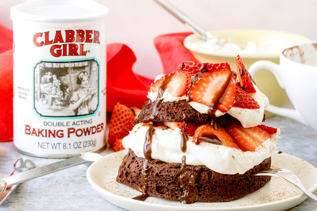 Chocolate Strawberry Shortcake in a Mug