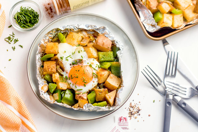 Hungry Girl's Healthy Best-Ever Breakfast Foil Packs Recipe