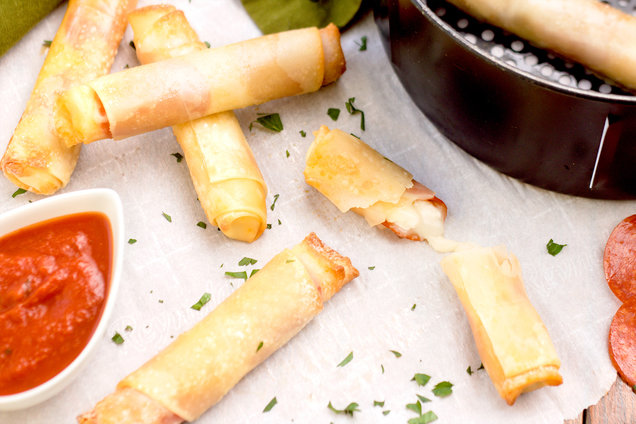 Hungry Girl's Healthy Air-Fryer Pizza Sticks Recipe