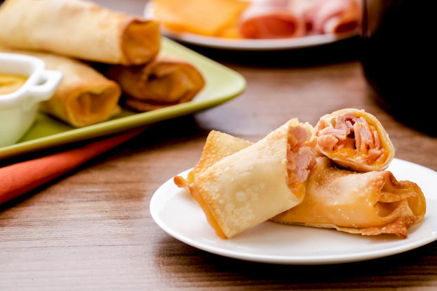 Hungry Girl's Healthy Air-Fryer Ham & Cheese Egg Rolls Recipe