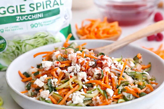Hungry Girl's Healthy Nutty Summer Spiral Salad Recipe