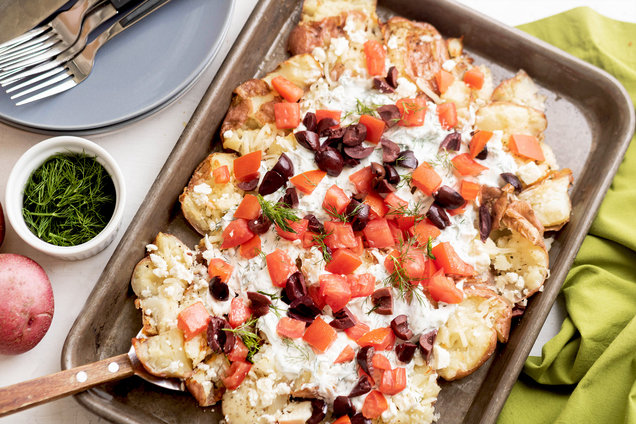 Hungry Girl's Healthy Greek Smashed Potatoes Recipe