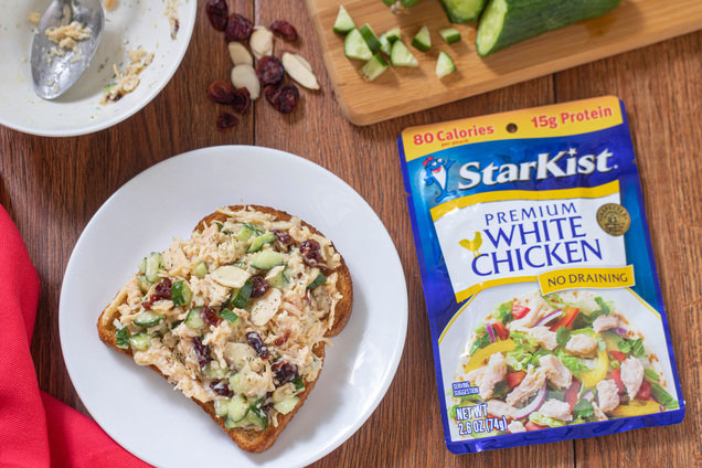 Hungry Girl's Healthy Cranberry Almond Chicken Salad Recipe