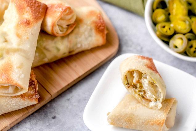 Hungry Girl's Healthy Air-Fryer Jalapeño Popper Egg Rolls Recipe