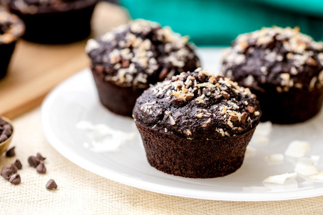 Hungry Girl's Healthy Chocolate Coconut Blender Muffins Recipe