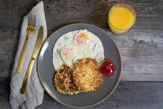 Hungry Girl's Healthy Jicama Hash Brown Patties Recipe