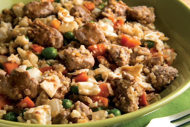 Hungry Girl's HealthyGrab-a-Fork Pork Fried Rice Recipe