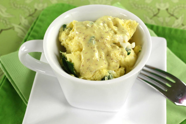 Hungry Girl' Healthy Egg Mug Florentine Recipe