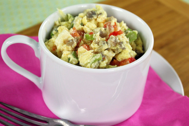 Hungry Girl's Healthy Veggie Eggs-plosion Mug