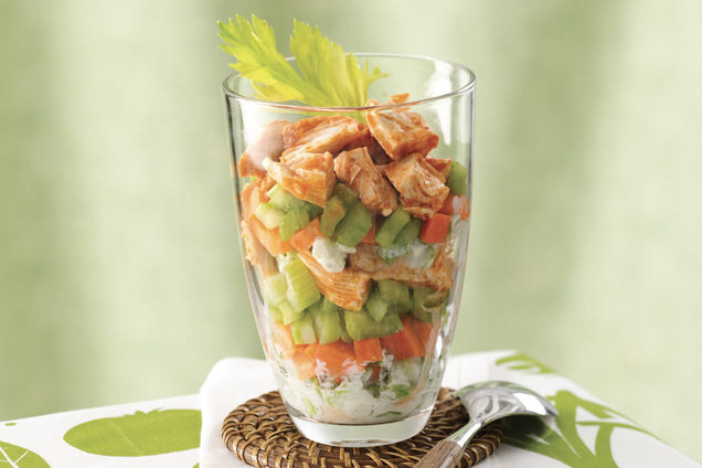 Hungry Girl's Healthy Deconstructed Buffalo Chicken Salad Recipe