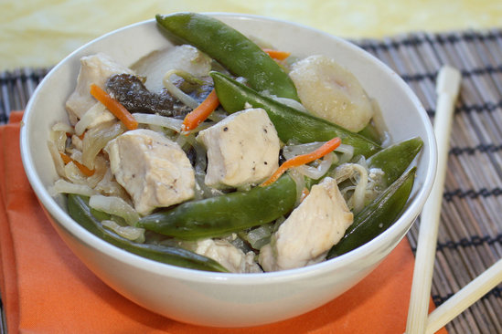 Hungry Girl's Healthy Colossal Asian Veggie 'n Chicken Pack Recipe