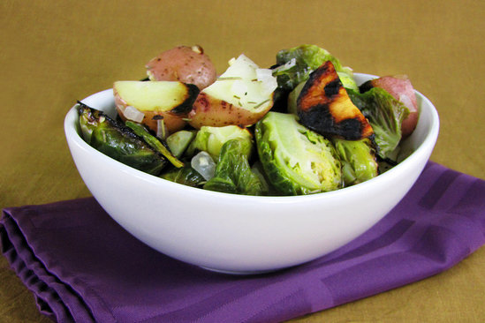 Hungry Girl's Healthy Hustle 'n Brussels Pack Attack Recipe
