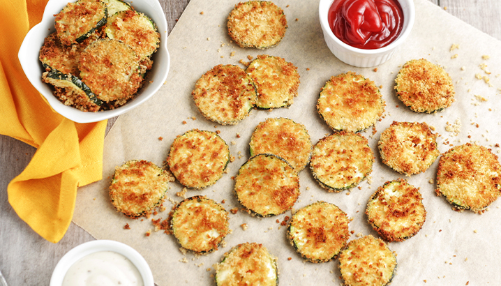 Hungry-Girl Video: Air-Fried Ranch Zucchini Chips