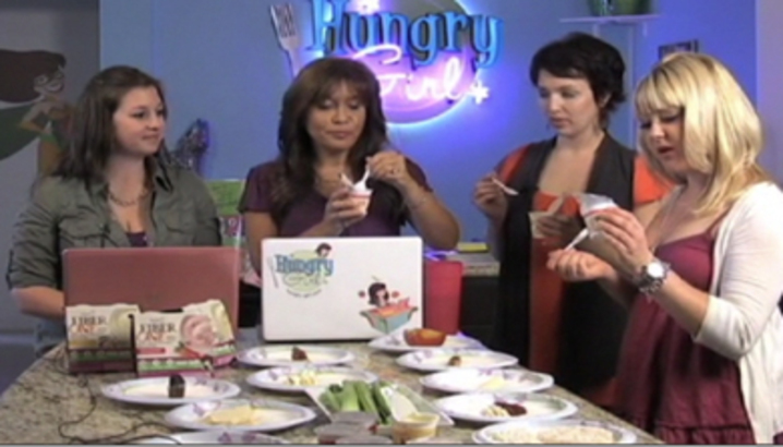 Hungry-Girl Video: HG Compares Yoplait Fiber One Yogurt to Other 50-Calorie Snacks!